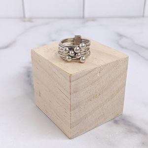 Jewelry - Sterling silver modernist stacked ball  ring